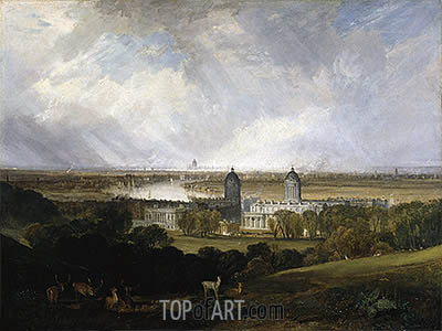 London from Greenwich Park, 1809 | J. M. W. Turner | Gemälde Reproduktion