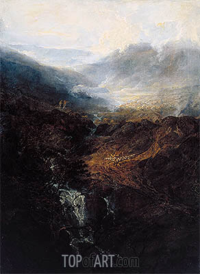 Morning amongst the Coniston Fells, Cumberland, 1798 | J. M. W. Turner | Painting Reproduction