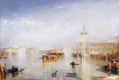 J. M. W. Turner | The Dogano, San Giorgio, Citella, from the Steps of the Europa, 1842