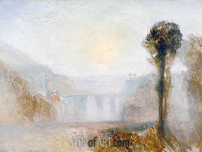 The Ponte Delle Torri, Spoleto, c.1840/45 | J. M. W. Turner | Painting Reproduction