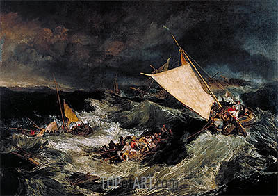 The Shipwreck, 1805 | J. M. W. Turner| Painting Reproduction