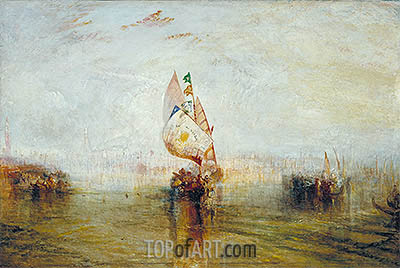 The Sun of Venice Going to Sea, 1843 | J. M. W. Turner| Gemälde Reproduktion