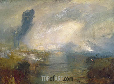 The Thames above Waterloo Bridge, c.1830/35 | J. M. W. Turner| Painting Reproduction
