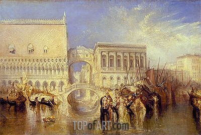 Venice, the Bridge of Sighs, 1840 | J. M. W. Turner| Painting Reproduction