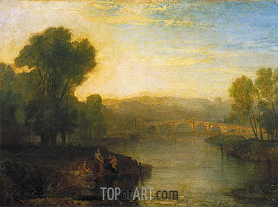 View of Richmond Hill and Bridge, 1808 | J. M. W. Turner | Gemälde Reproduktion