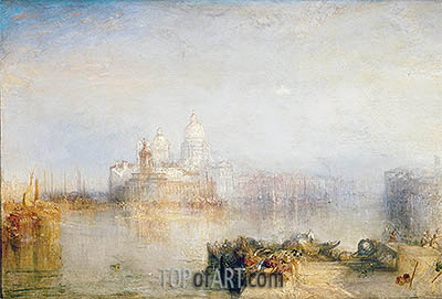 The Dogana and Santa Maria della Salute, Venice, 1843 | J. M. W. Turner| Gemälde Reproduktion