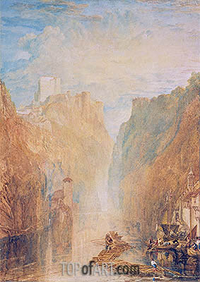 On the Upper Rhine, undated | J. M. W. Turner | Painting Reproduction