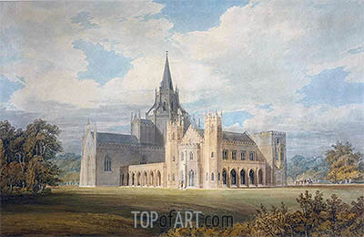J. M. W. Turner | Perspective View of Fonthill Abbey from the South-West, undated