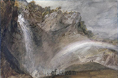 Upper Falls of the Reichenbach, 1802 | J. M. W. Turner | Painting Reproduction