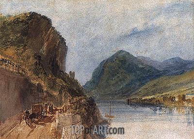 The Drachenfels, 1817 | J. M. W. Turner | Painting Reproduction