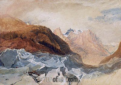 Mer de Glace, Chamonix with Blair's Hut, c.1806 | J. M. W. Turner| Painting Reproduction