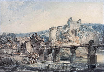 Chepstow Castle, c.1793 | J. M. W. Turner| Painting Reproduction