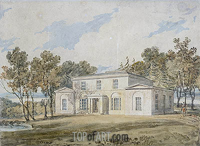J. M. W. Turner | Mansion with Wooded Grounds, undated