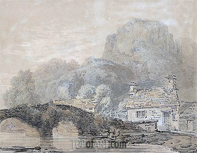 Cottage by a Bridge (Beddgelert Bridge, North Wales), undated | J. M. W. Turner | Painting Reproduction