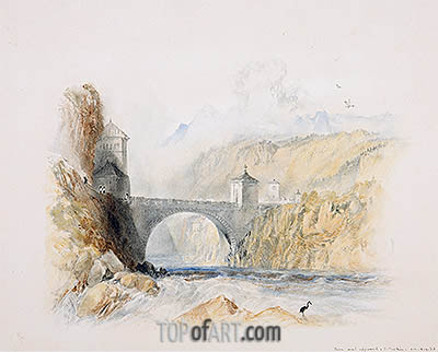 Landscape with Bridge, undated | J. M. W. Turner | Painting Reproduction
