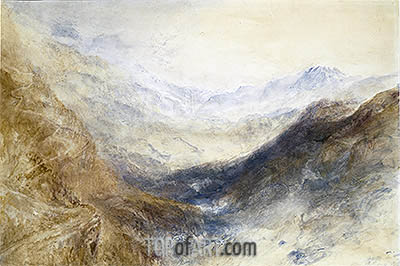 Simplon Pass, c.1850 | J. M. W. Turner | Painting Reproduction