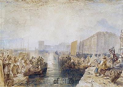 J. M. W. Turner | Le Havre: Sunset, c.1827