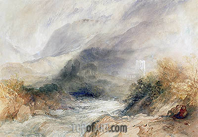 Llanthony Abbey, Monmouthshire, 1834 | J. M. W. Turner | Painting Reproduction