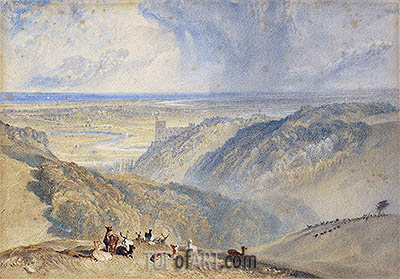 Arundel on the River Arun, undated | J. M. W. Turner| Painting Reproduction
