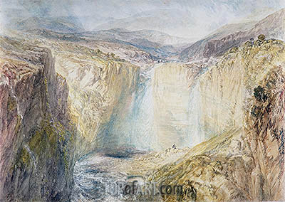 Fall of the Tees, Yorkshire, c.1825/26 | J. M. W. Turner | Painting Reproduction