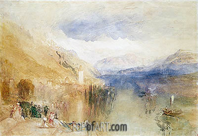 Oberhofen, Lake Thun, c.1848 | J. M. W. Turner | Painting Reproduction