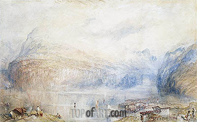 Lake of Lucerne from Brunnen, 1845 | J. M. W. Turner | Painting Reproduction