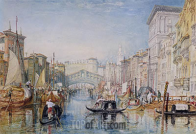 Venice, The Rialto, c.1820/21 | J. M. W. Turner| Painting Reproduction