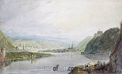 Remagen, Erpel and Linz, 1817 | J. M. W. Turner| Painting Reproduction