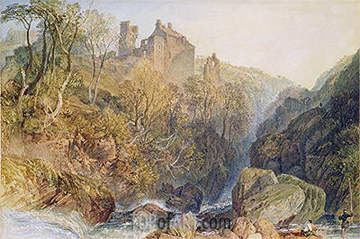 Rosslyn Castle, c.1820 | J. M. W. Turner | Painting Reproduction