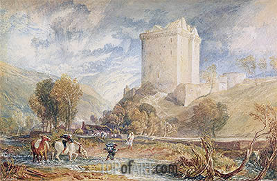 Borthwick Castle, 1818 | J. M. W. Turner| Painting Reproduction