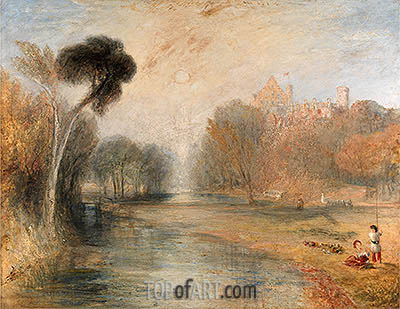Rosenau Castle, Coburg, undated | J. M. W. Turner| Painting Reproduction