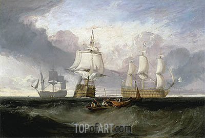 The Victory Returning from Trafalgar in Three Positions, undated | J. M. W. Turner| Painting Reproduction