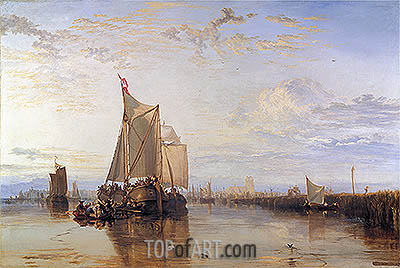 Dort or Dordrecht: The Dort Packet-Boat from Rotterdam Becalmed, 1818 | J. M. W. Turner | Painting Reproduction