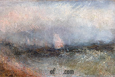 Off the Nore (Squally Weather), undated | J. M. W. Turner | Painting Reproduction