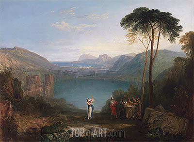 Lake Avernus: Aeneas and the Cumaean Sybil, undated | J. M. W. Turner | Painting Reproduction