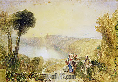 Lake Albano, undated | J. M. W. Turner | Painting Reproduction