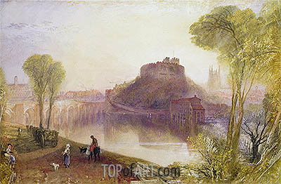 Tamworth Castle, Staffordshire, undated | J. M. W. Turner| Gemälde Reproduktion