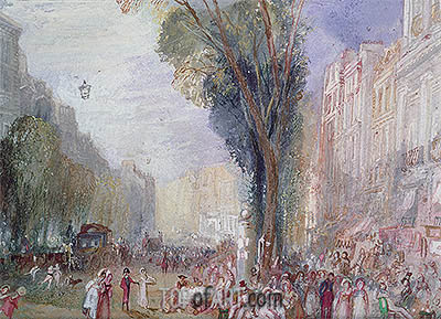 Boulevard des Italiennes, Paris, undated | J. M. W. Turner| Painting Reproduction