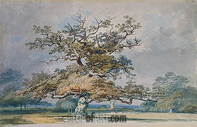 A Landscape with an Old Oak Tree, undated | J. M. W. Turner | Painting Reproduction