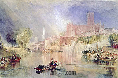 Worcester Cathedral and River Severn, undated | J. M. W. Turner | Gemälde Reproduktion