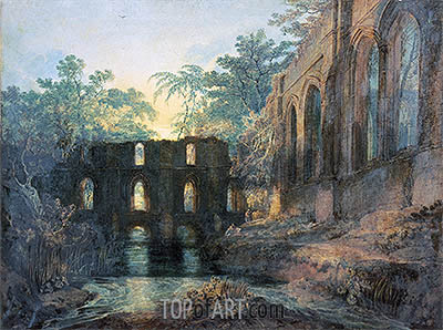 J. M. W. Turner | Fountains Abbey, undated