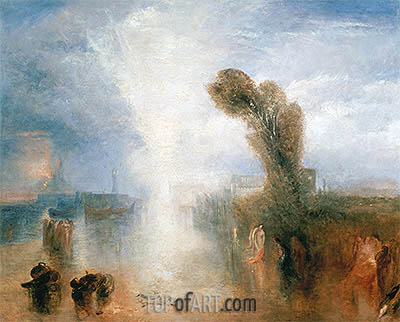 J. M. W. Turner | Neopolitan Fisher Girls, Surprised, Bathing by Moonlight, c.1840