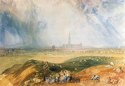 Salisbury Cathedral, undated | J. M. W. Turner| Painting Reproduction