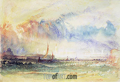 Storm at Sunset, Venice, c.1840 | J. M. W. Turner| Painting Reproduction