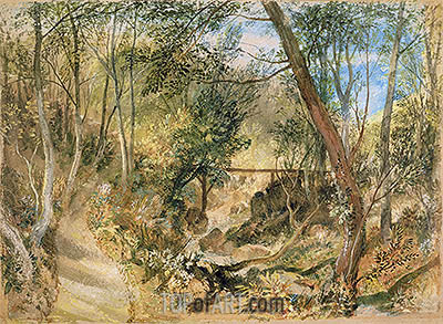 The Woodwalk, Farnley Hall, c.1818 | J. M. W. Turner | Painting Reproduction