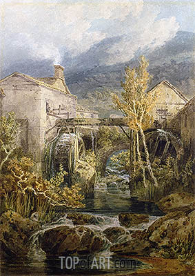 The Old Mill, Ambleside, undated | J. M. W. Turner | Painting Reproduction