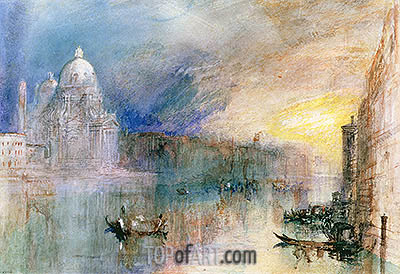 Venice: Grand Canal with Santa Maria della Salute, undated | J. M. W. Turner | Painting Reproduction