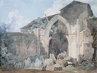 Glastonbury Abbey, undated | J. M. W. Turner | Painting Reproduction