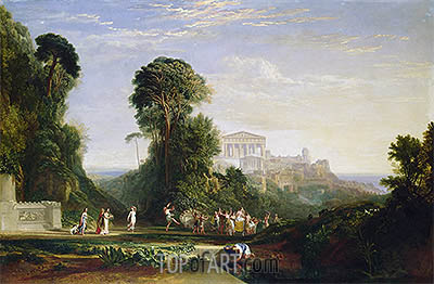 J. M. W. Turner | The Temple of Jupiter - Prometheus Restored, undated