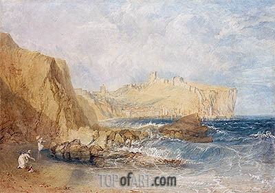 Scarborough, 1818 | J. M. W. Turner| Painting Reproduction
